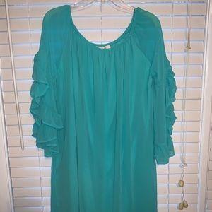 Entro Large Ruffle Sleeve Dress
